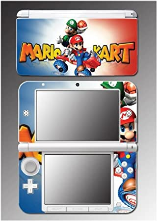 Mariokart 7 3D Super Mario Luigi Kart DS Video Game Vinyl Decal Cover Skin Protector 3 for Nintendo 3DS XL