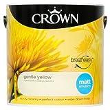 Crown Breatheasy Emulsion Paint - Matt - Gentle Yellow - 2.5L