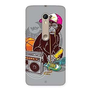 Premium Monkey Music Back Case Cover for Motorola Moto X Style