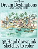 img - for Adult Coloring Books: Dream Destinations - 32 Hand drawn ink sketches to color (I Love it Coloring Books) (Volume 1) by Anthony B Taylor (2016-03-28) book / textbook / text book