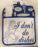 Disney Park Cinderella I Don't Do Dishes Kitchen Towels Potholder Set NEW