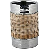 Montstar Stainless Steel Double Wall Wine Chiller | Wine Cooler In A Hammered Finish With Wicker Embellishment...