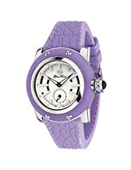 Glam Rock Women's GR11405 Palm Beach Collection Stainless Steel and Lilac Rubber Watch