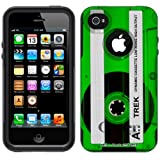 Otterbox Commuter Retro Clear Cassette Tape Green Case for Apple iPhone 4
