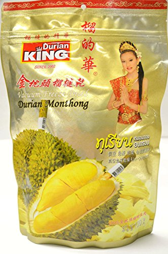 Durian King Snack Food King Vacuum Freeze Dried Durian 100g (Pack of 2) (Fruit King compare prices)