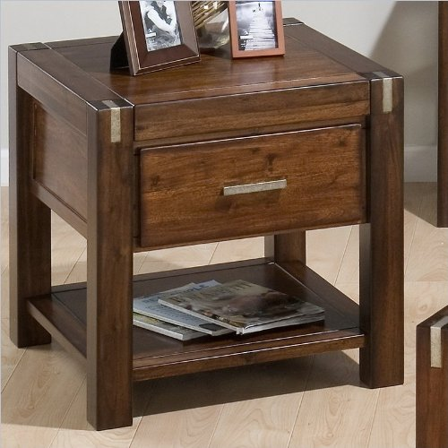 Jofran 752-3 End Table with Drawer and Shelf
