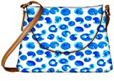 Snoogg Multiple Abstract Blue Paint Designer Womens Carry Around Sling Bags