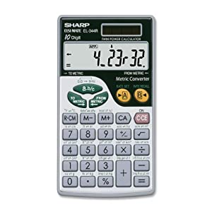 Sharp Electronics EL344RB 10-Digit Calculator with Punctuation