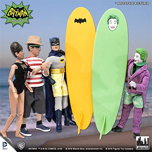 Batman Classic 1966 tv series Retro Action Figure; Surfing Series set of 4 figures & surfboards