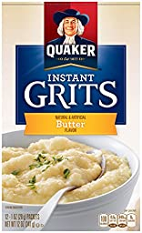 Quaker Instant Grits Real Butter, 12-Count Boxes (Pack of 12)