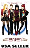 2NE1 white-background POSTER 23.5 x 34 Korean girl group colorful (sent FROM USA in PVC pipe)