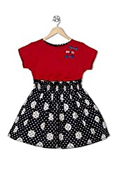 Soulfairy Girls' Dress (SS16-DRSNAU-206_Red_6-12 Months)