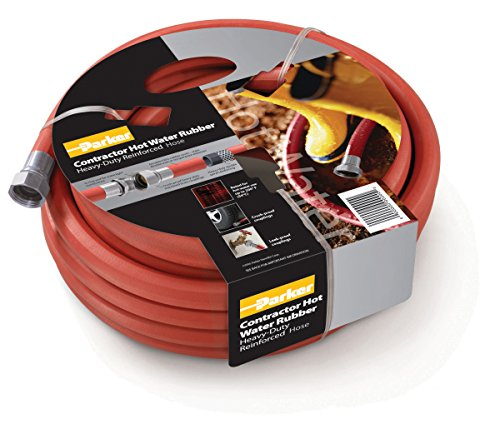 Parker Hannifin HWR5825 Rubber Cover  HWR Premium Hot Water Hose Assembly, Red, 25' Length, 0.625