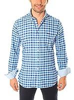 VICKERS Camisa Hombre Harvard (Azul Marino / Azul Claro)
