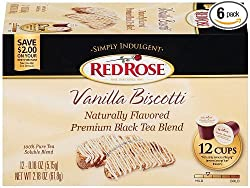 Red Rose Vanilla Biscotti Keurig K-Cup Brewers by Red Rose