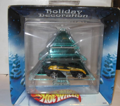 2002 Hot Wheels Holiday Decoration Green Tree which includes a car in it. - 1