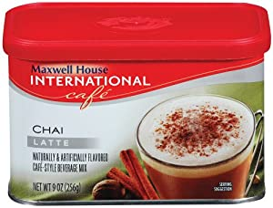 Maxwell House International Coffee Chai Latte, 9-Ounce Cans (Pack of 6)