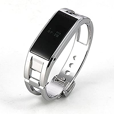 Soyan Bluetooth Smart Watch D8 Metal WristWatch for Android Phones(Full functions) and iPhones(partial functions) (Silver)