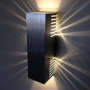 Cmyk 6w Warm White LED Wall Sconces Light Fixture Hardwired up Down Light for Theater Studio ...