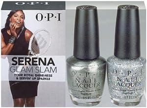 OPI Serena Glam Slam England Your Royal Shineness & Servin Up Sparkle