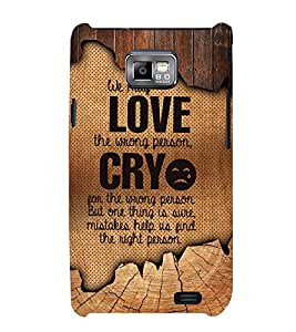 Love Wrong Person 3D Hard Polycarbonate Designer Back Case Cover for Samsung Galaxy S2 :: Samsung Galaxy S2 i9100