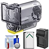 Sony MPK-AS3 Action Cam Underwater Marine Housing Case (197 ft./ 60m) with Battery + Charger + Cleaning Kit for HDR-AS15, AS20, AS30V, AS100V