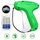 Tag Gun, Lnkey Standard Label Tagging Gun and 5 Replacement Needle and 1000 Tags Barbs 50mm Price Label for Clothes Sock Hat and 1 Safety Cap (Color: Green 2nd)