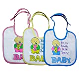 Littly Baby Bunny Bibs Combo, Pack Of 3 (Blue, Pink, Yellow)