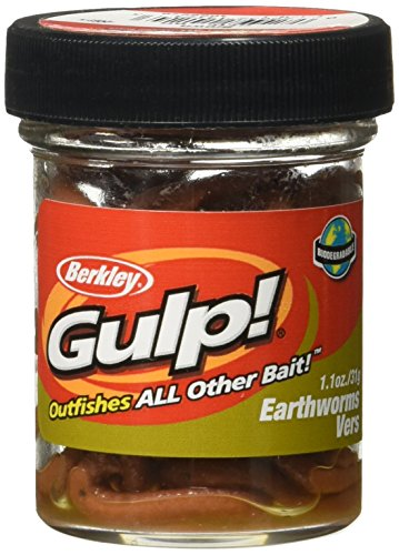 Berkley GEW-BR Gulp Earthworm, Brown, 4-Inch (Fishing Bait compare prices)