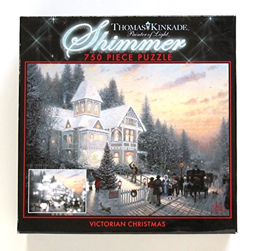 Thomas Kinkade Victorian Christmas 750 Piece Shimmer Jigsaw Puzzle