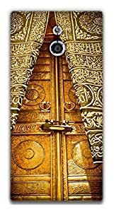The Racoon Grip Khana Kaba Door hard plastic printed back case / cover for Sony Xperia P