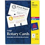 Avery Rotary Cards, Laser and Ink Jet Printers, 3 x 5 Inches, 150 Cards per Box (05386)