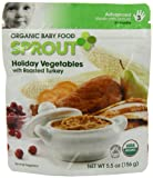 Sprout Organic Baby Food, Stage-3, Holiday Vegetable Dinner with Roasted Turkey, 5.5-Ounces pouches (Pack of 12)