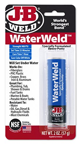 J-B Weld 8277 WaterWeld Underwater Epoxy Putty - 2 oz - 1
