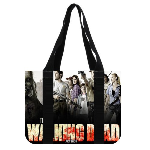 "ARTSWOW The Walking Dead Custom Borsa Grocery Borsa da viaggio borsa a tracolla 01 (2 lati), Tela, color-5, 12.2"" x 11"" x 3.3"""