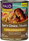 Halo Spot's Choice for Dogs, Turkey and Chickpea, 13.2oz/12 Cans