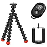 Joby GorillaPod Magnetic Tripod with Ivation Wireless Bluetooth Camera Shutter Remote Control for Apple and Android Phones and Ivation Universal Tripod Mount for Smartphones (Tamaño: Large w/ Remote)