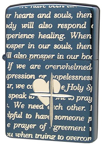 ZIPPO (Zippo) oil lighter NO200 lovers / Cross-message ALL blue / silver 63060398