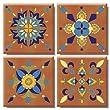 En Provence TileStix 4-Piece Peel and Stick Tile D�cor