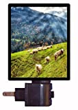 Austria Night Light - Sheep in the Meadow - Austrian