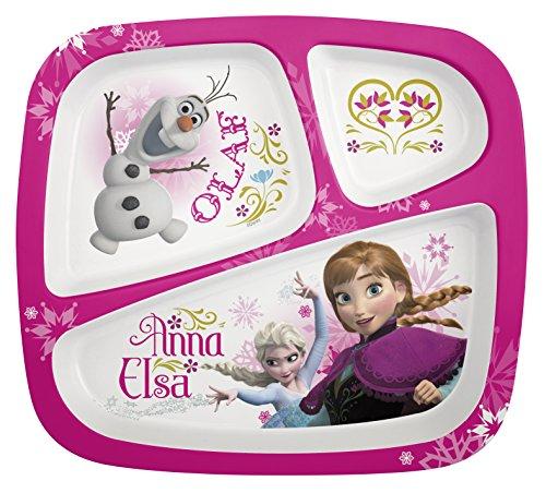 Zak Designs Disney'S Frozen 3-Section Plate