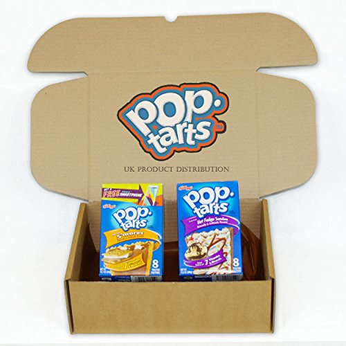 Kellogg's Pop Tarts Huge American Selection Gift Box - S'mores & Hot Fudge Sundae - 2 Boxes - The Perfect Gift From UKPD