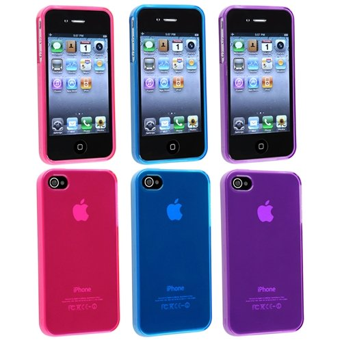 eForCity 3x Frost TPU Gel Rubber Skin Soft Cover
