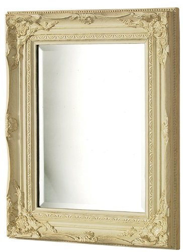 Antique Wooden Frame Rectangular Wall Mirror