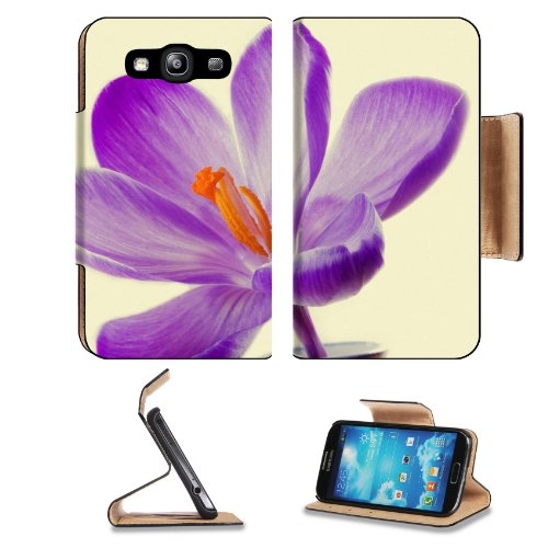 Purple Lily Flower Vase Big Orange Center Pretty Samsung Galaxy S3 I9300 Flip Cover Case With Card Holder Customized Made To Order Support Ready Premium Deluxe Pu Leather 5 Inch (132Mm) X 2 11/16 Inch (68Mm) X 9/16 Inch (14Mm) Liil S Iii S 3 Professional