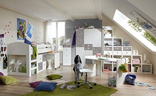 Jugendzimmer-komplett-Set-Jungen-Mdchen-Jugendzimmermbel-Kinderzimmer-Kinderzimmermbel-Jugendmbel-Kleiderschrank-Bett-Alpinwei-Beton