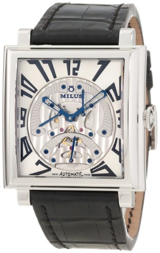 Milus Men's HERT002 Stainless Steel with White Dial Watch