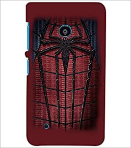PrintDhaba Spider D-2261 Back Case Cover for NOKIA LUMIA 530 (Multi-Coloured)