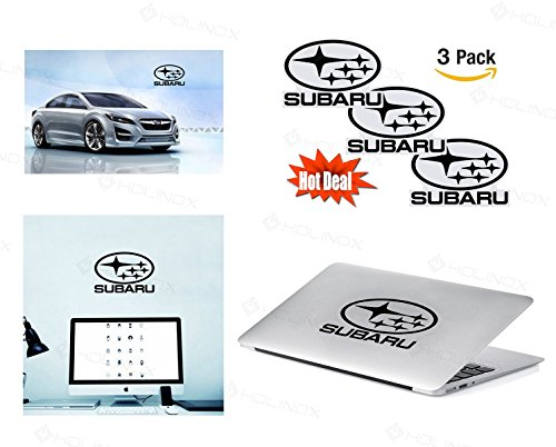 SUBARU Logo Stickers Decal - Set of 3 Decals - High Resolution, Superior Finish and Transparent Background - Ideal for Car, Motorcycle, Laptop, Macbook, iMac, Windows and Wall Art (Subaru Brz Fender Flares compare prices)