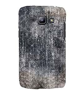 Black Color Wall 3D Hard Polycarbonate Designer Back Case Cover for Samsung Galaxy J1 (2016) :: Samsung Galaxy J1 (2016) J120H